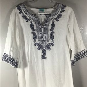 Daven Embroidered Mini Dress or Long Shirt LNC